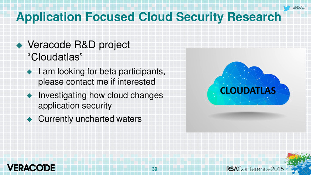 #RSAC Application Focused Cloud Security Resear...