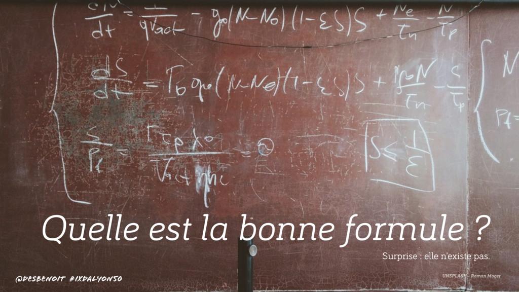 Quelle est la bonne formule ? UNSPLASH - Roman ...