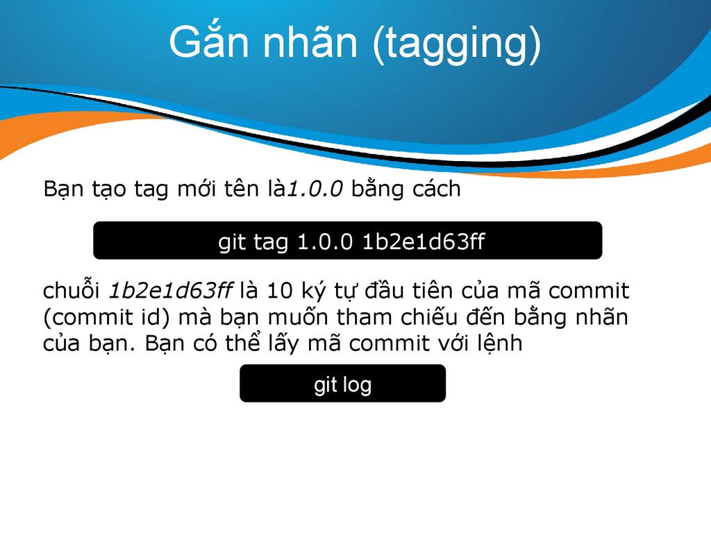 Gắn nhãn (tagging) Bạn tạo tag mới tên là1.0.0 ...