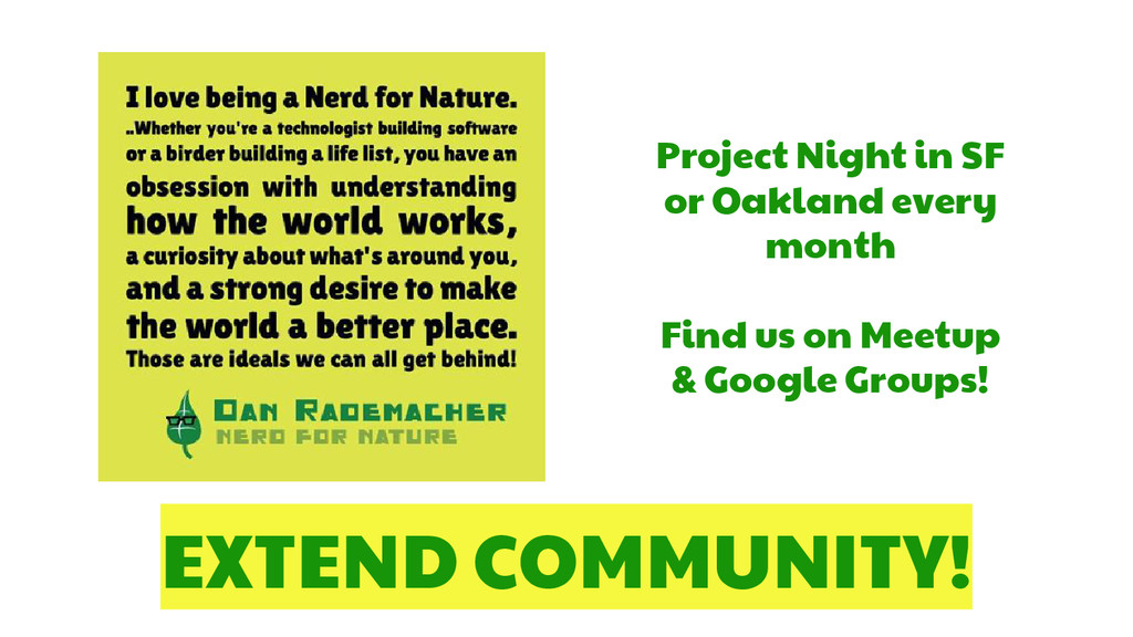 EXTEND COMMUNITY! Project Night in SF or Oaklan...