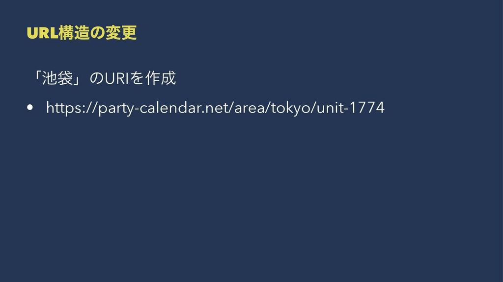 URLߏͷมߋ ʮାʯͷURIΛ࡞ • https://party-calendar.n...