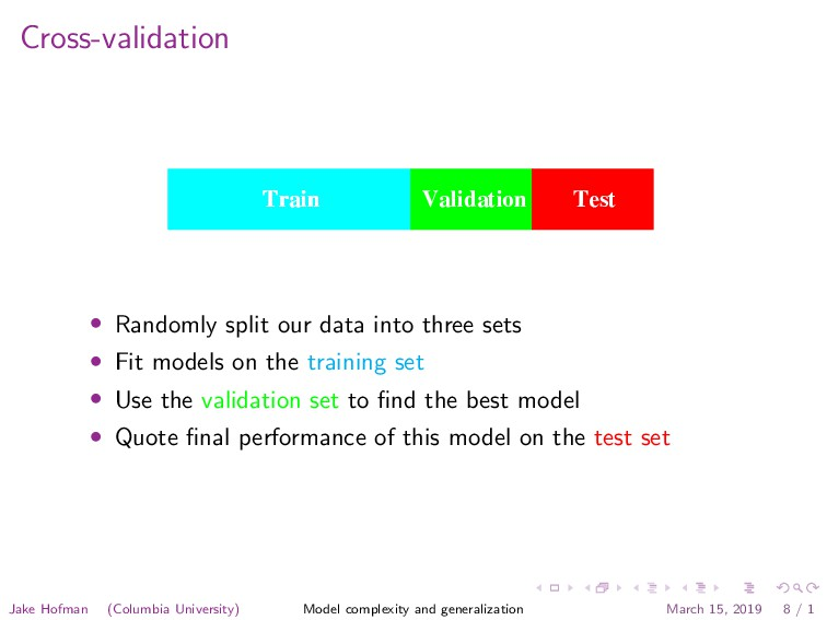 Cross-validation set error of the final chosen m...