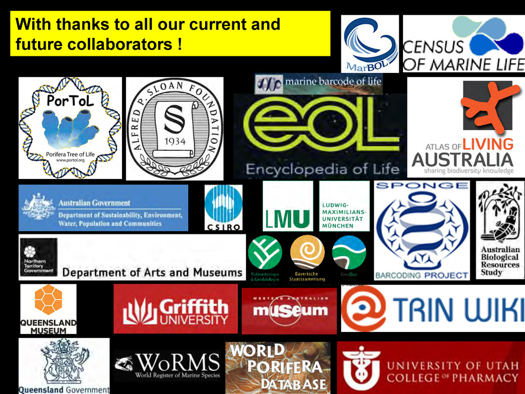 With thanks to all our current and future colla...