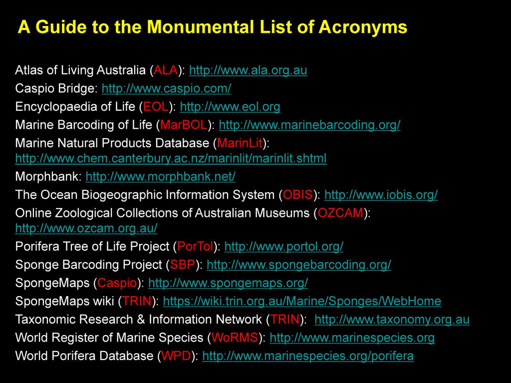 Atlas of Living Australia (ALA): http://www.ala...