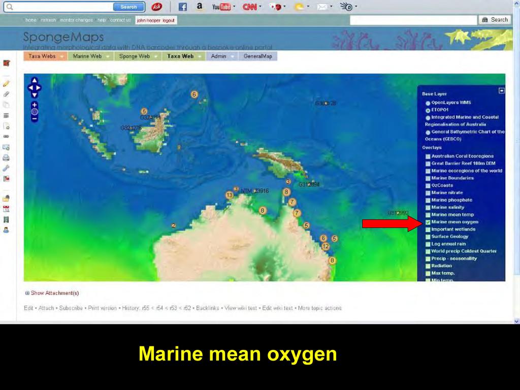 Marine mean oxygen