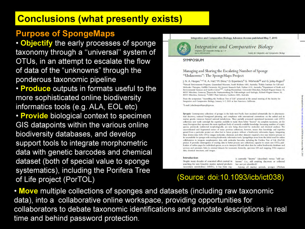 Conclusions (what presently exists) (Source: do...
