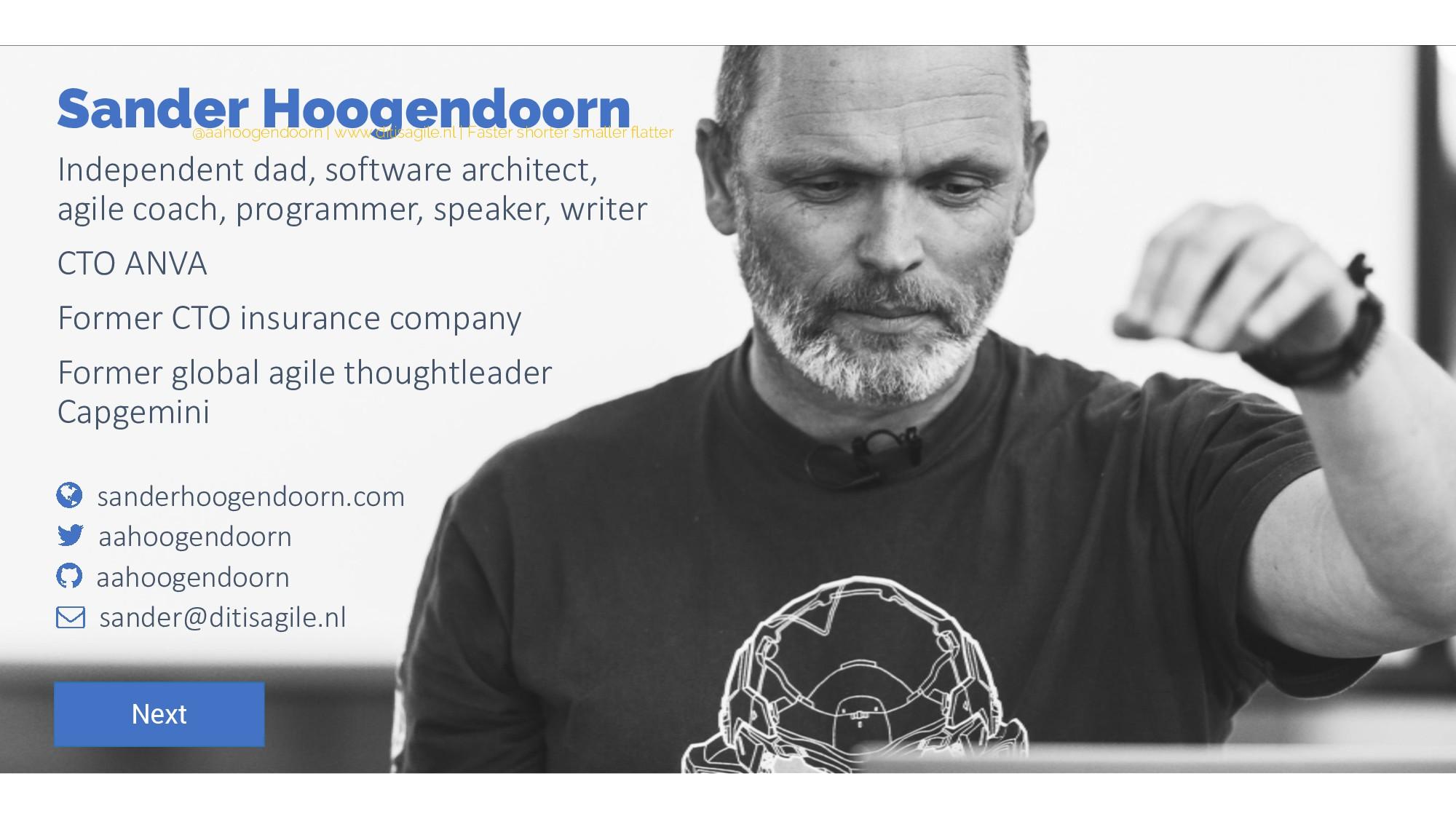 Sander Hoogendoorn Independent dad, software ar...
