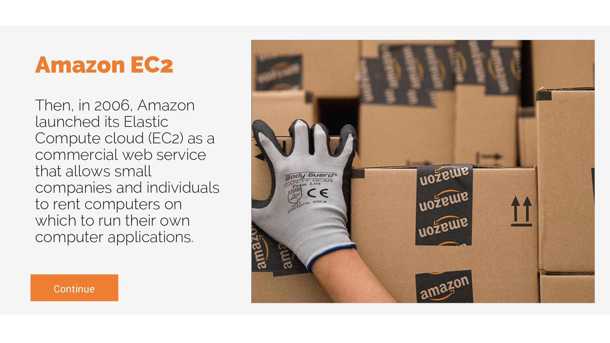Continue Amazon EC2 Then, in 2006, Amazon launc...