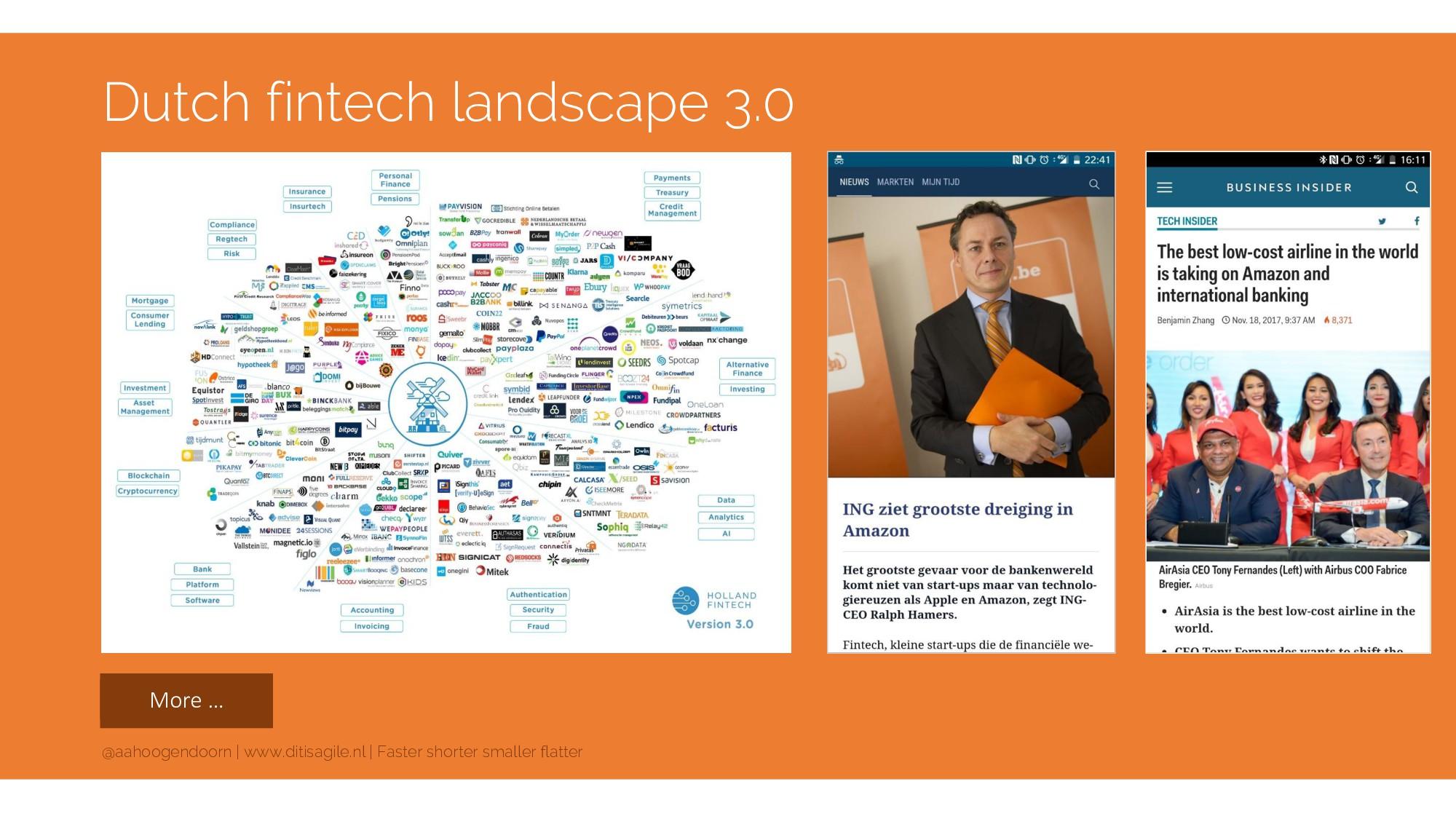 More … Dutch fintech landscape 3.0 @aahoogendoo...
