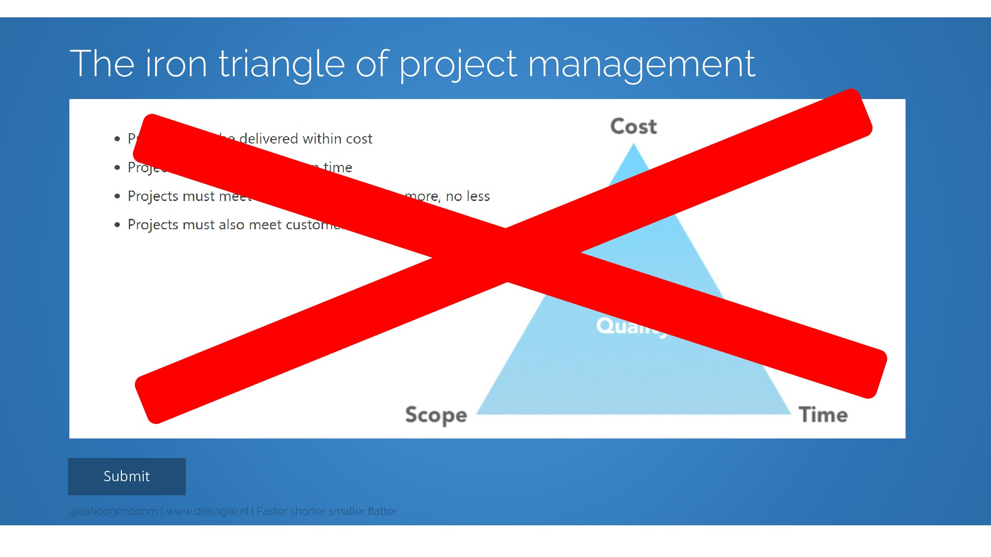 Submit The iron triangle of project management ...