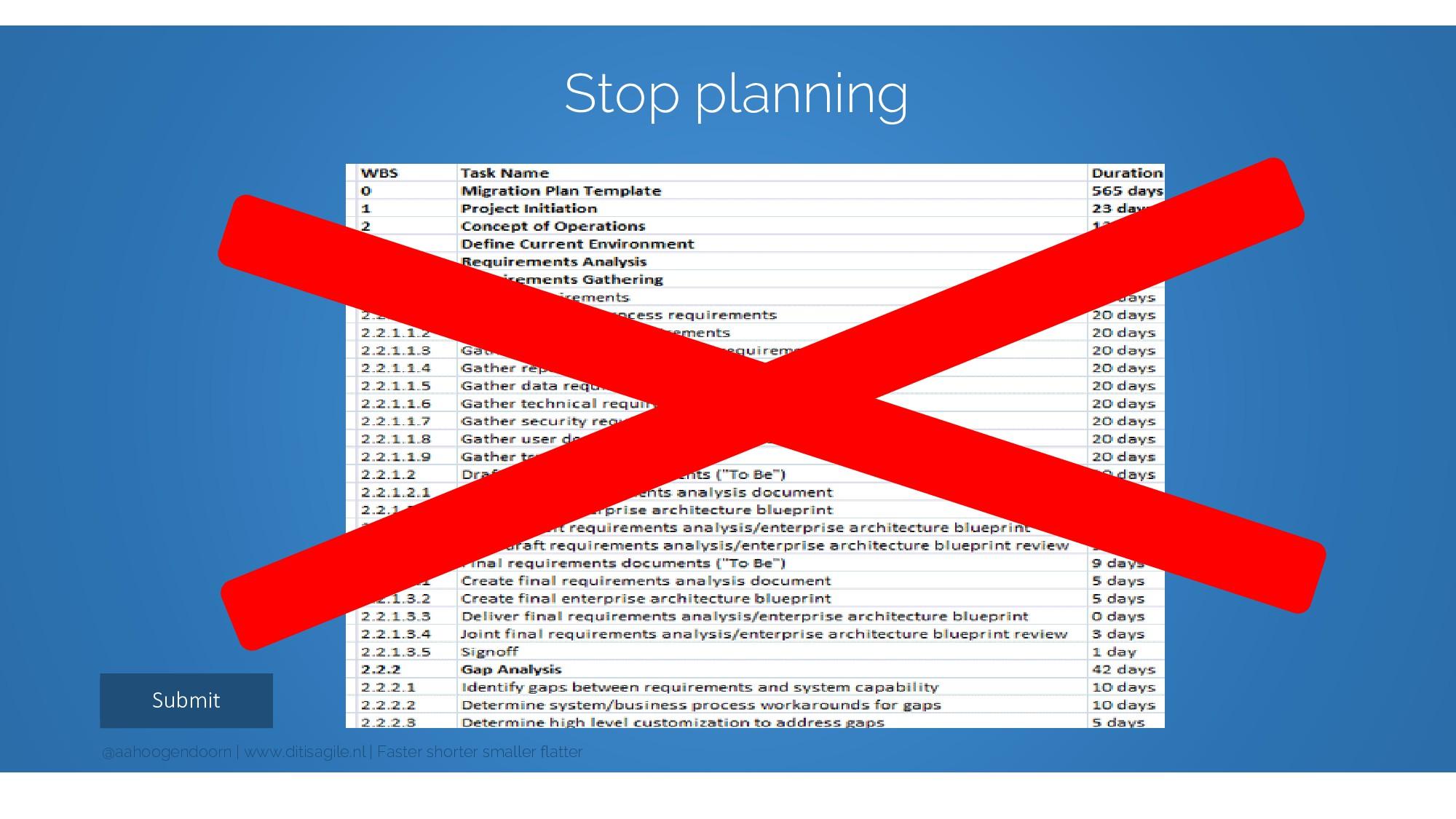 Submit Stop planning @aahoogendoorn | www.ditis...