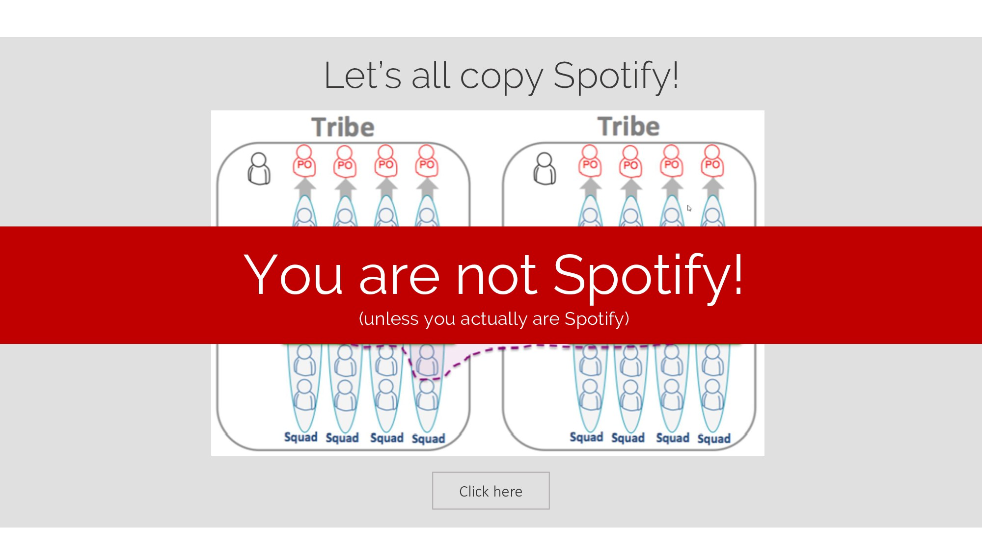 Click here Let's all copy Spotify! You are not ...