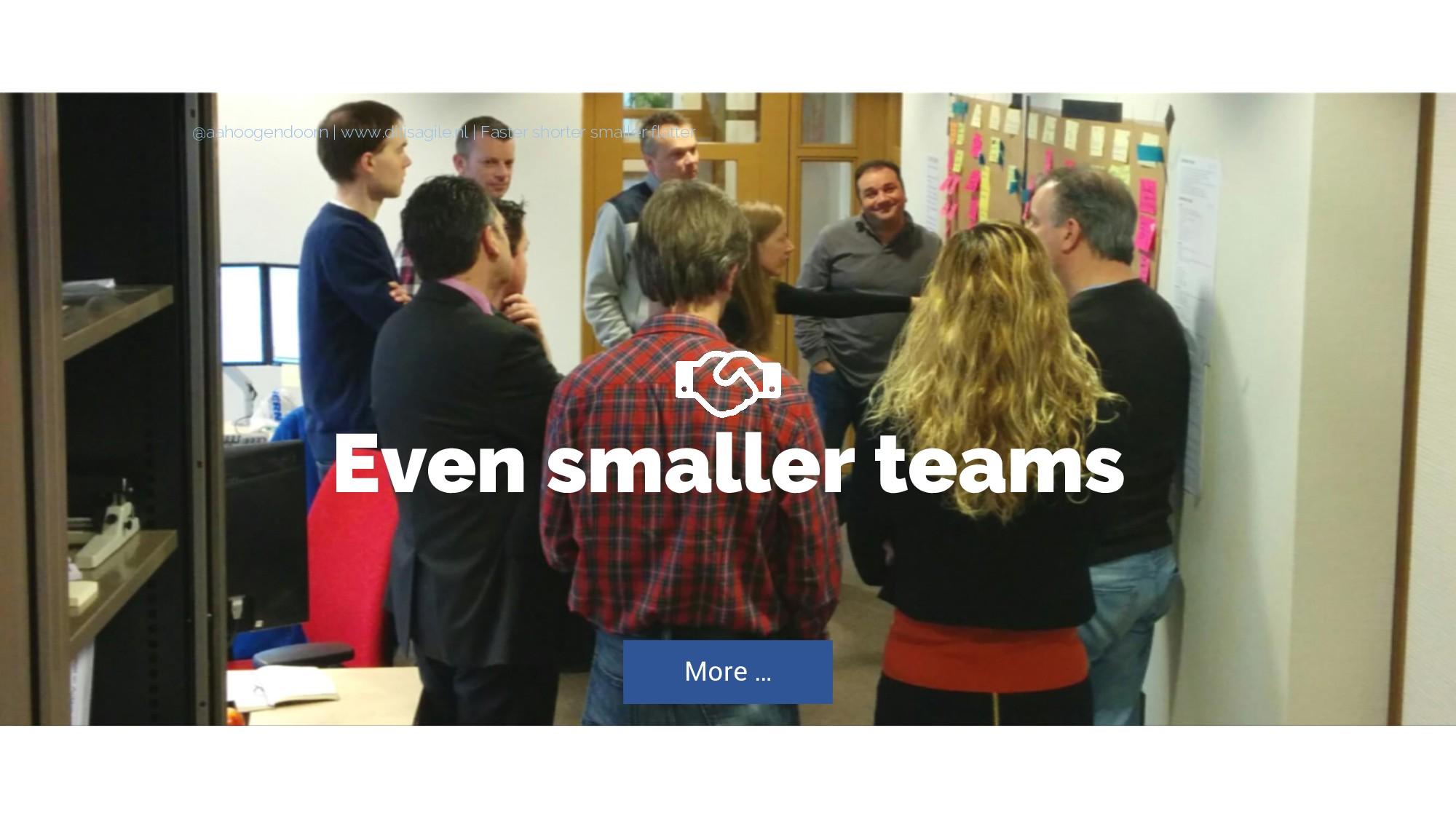 Even smaller teams More … @aahoogendoorn | www....