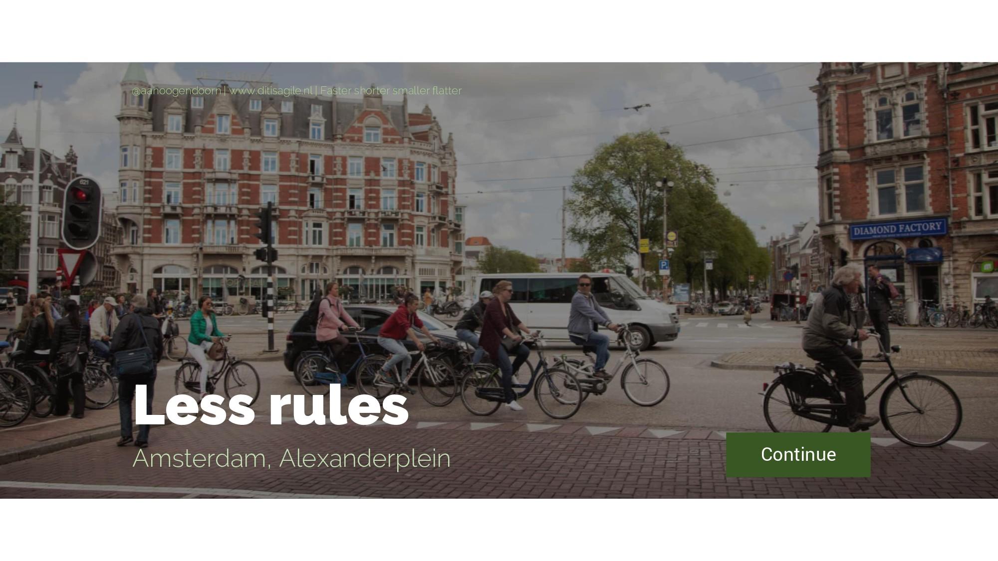 Less rules Amsterdam, Alexanderplein Continue @...