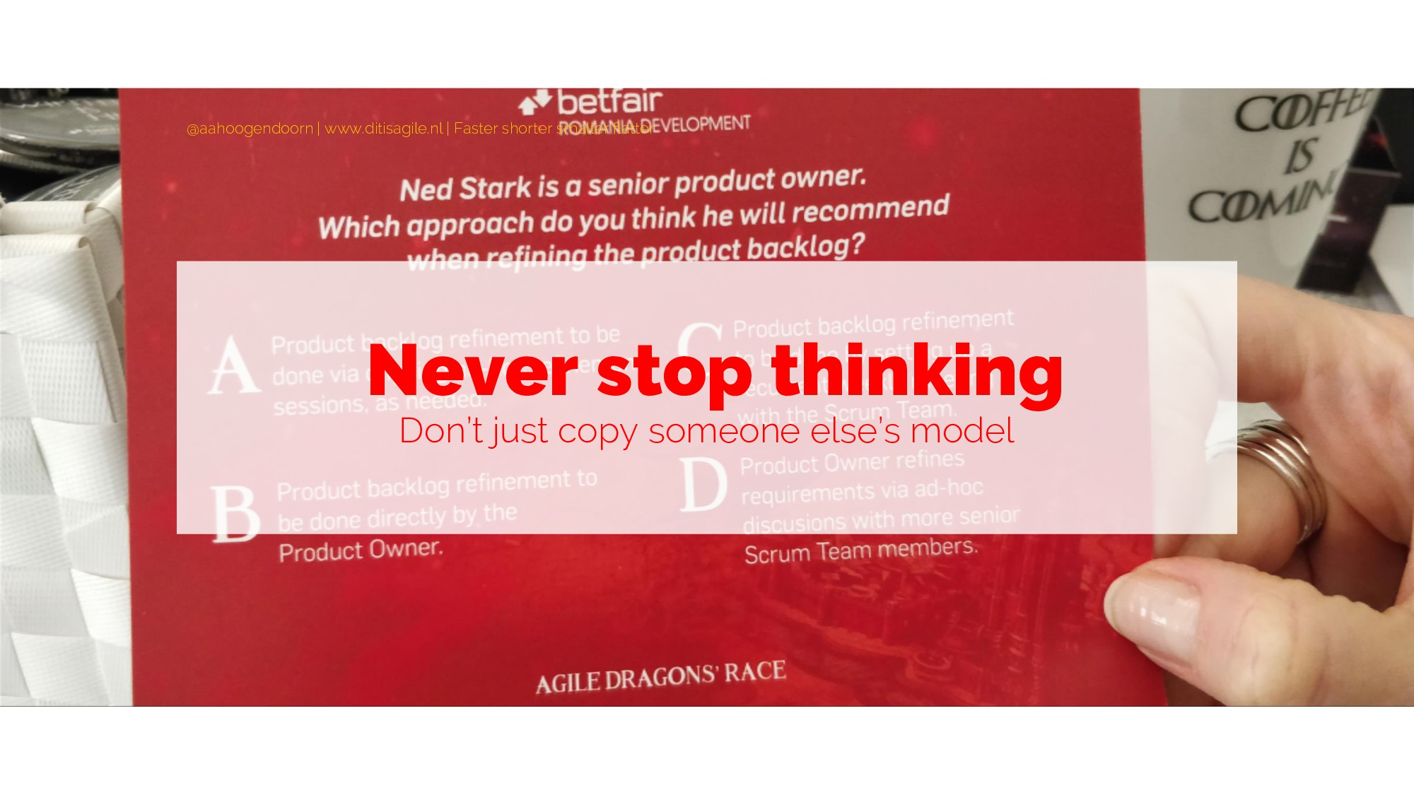 Never stop thinking Don't just copy someone els...