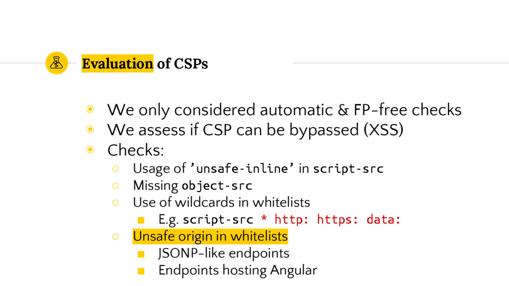 Evaluation of CSPs ◉ We only considered automat...