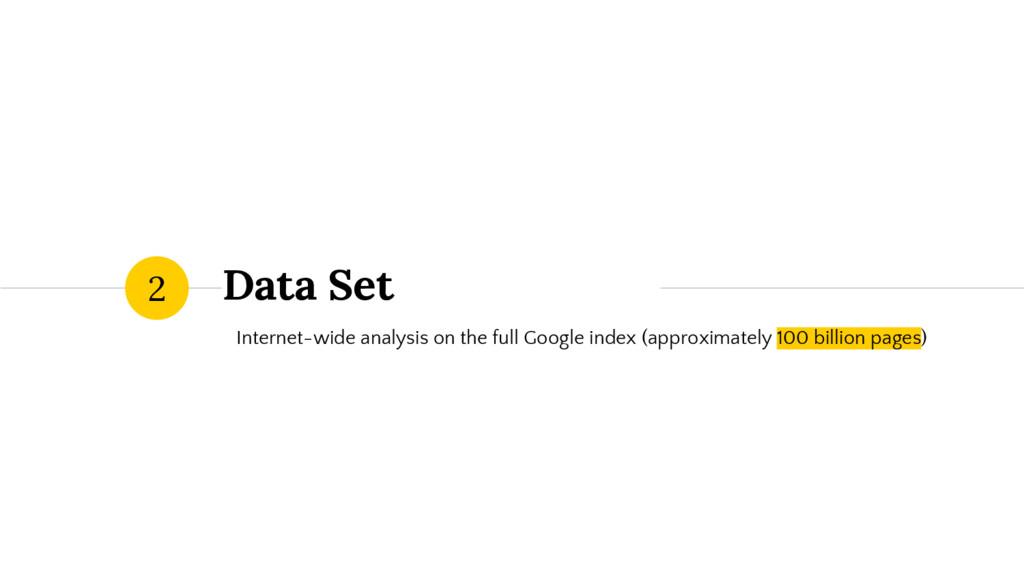 Data Set Internet-wide analysis on the full Goo...