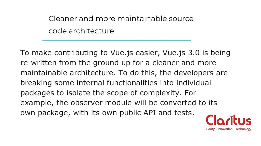 Cleaner and more maintainable source code archi...