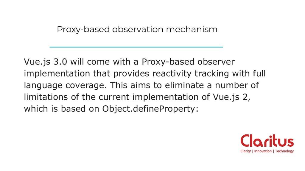 Proxy-based observation mechanism Vue.js 3.0 wi...