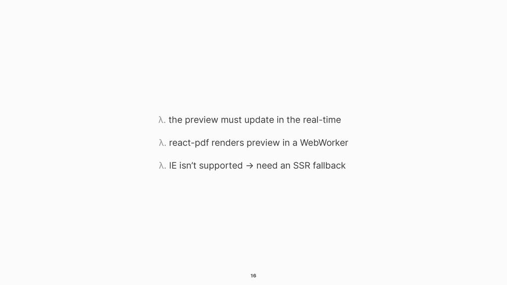 16 λ. the preview must update in the real-time ...