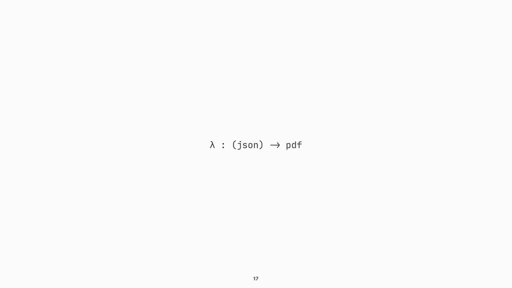 """17 λ : (json) """"-> pdf"""