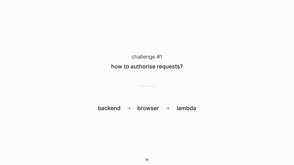 18 challenge #1 how to authorise requests? back...