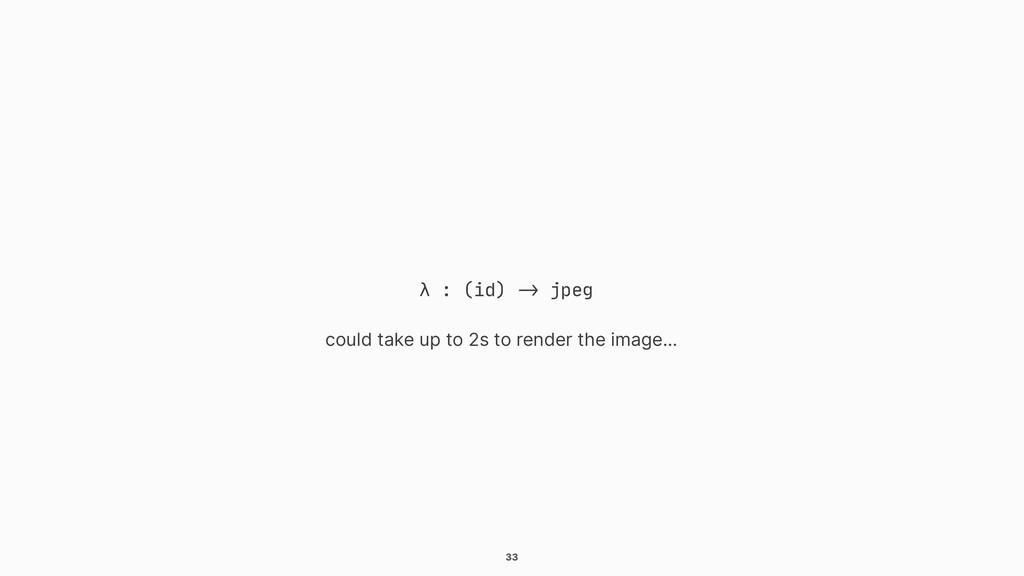 """33 λ : (id) """"-> jpeg could take up to 2s to ren..."""