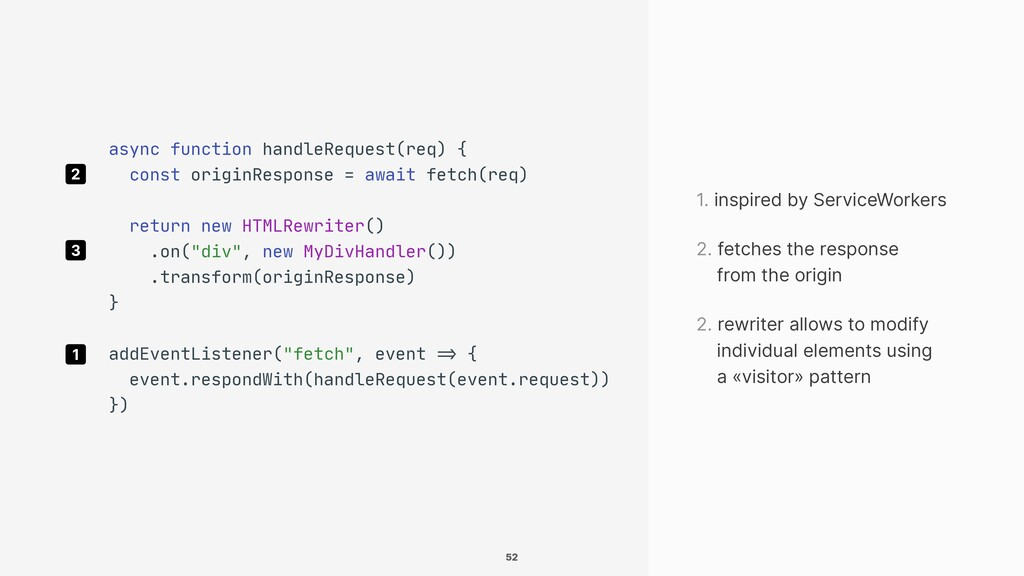 1. inspired by ServiceWorkers 1 2. fetches the ...