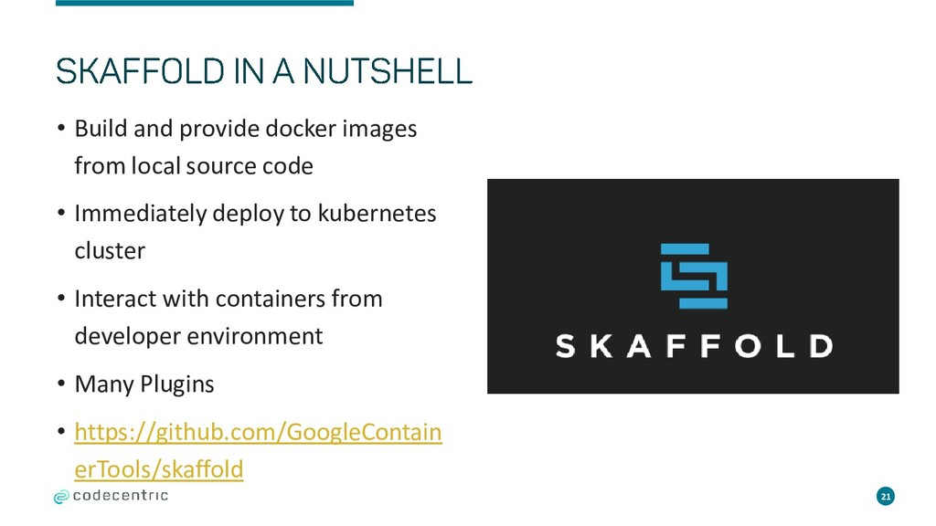 • Build and provide docker images from local so...