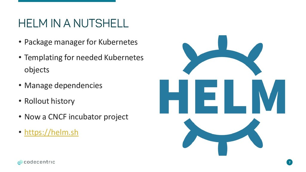 • Package manager for Kubernetes • Templating f...