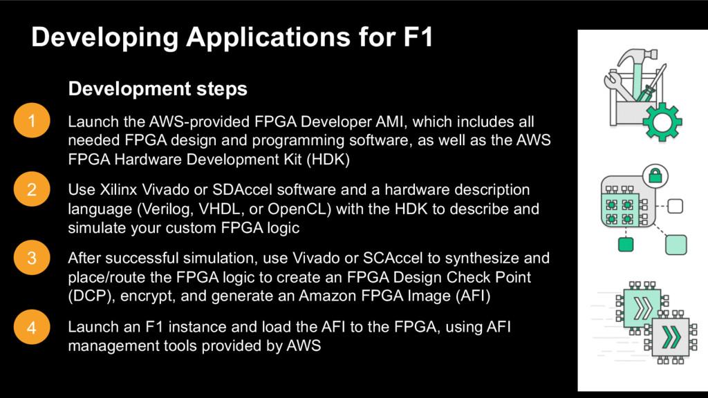 Development steps Launch the AWS-provided FPGA ...