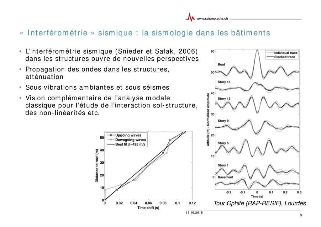 13.10.2015 « Interférométrie » sismique : la si...