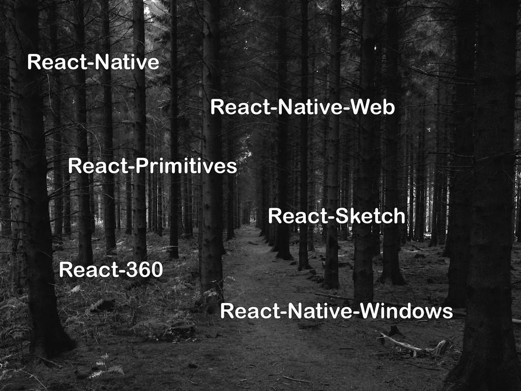 React-Native React-Native-Web React-Primitives ...
