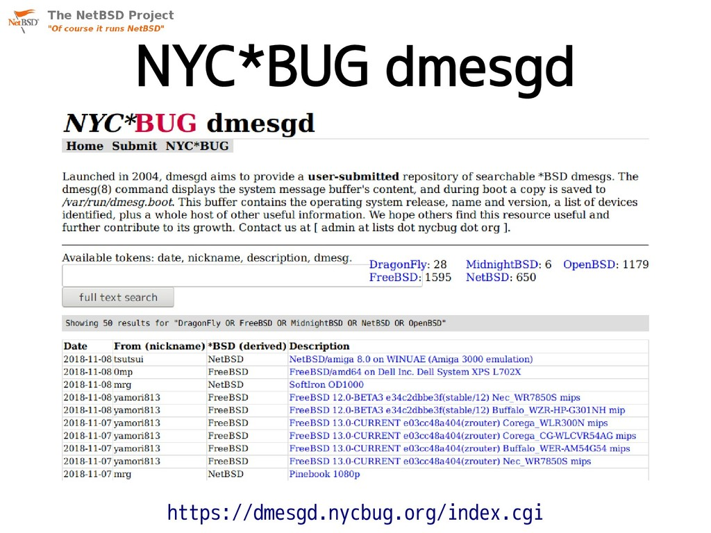 NYC*BUG dmesgd https://dmesgd.nycbug.org/index....