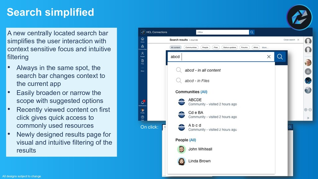 Search simplified All designs subject to change...