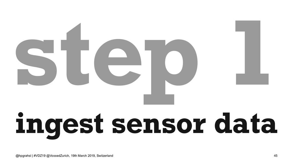 step 1 ingest sensor data @hpgrahsl | #VDZ19 @V...