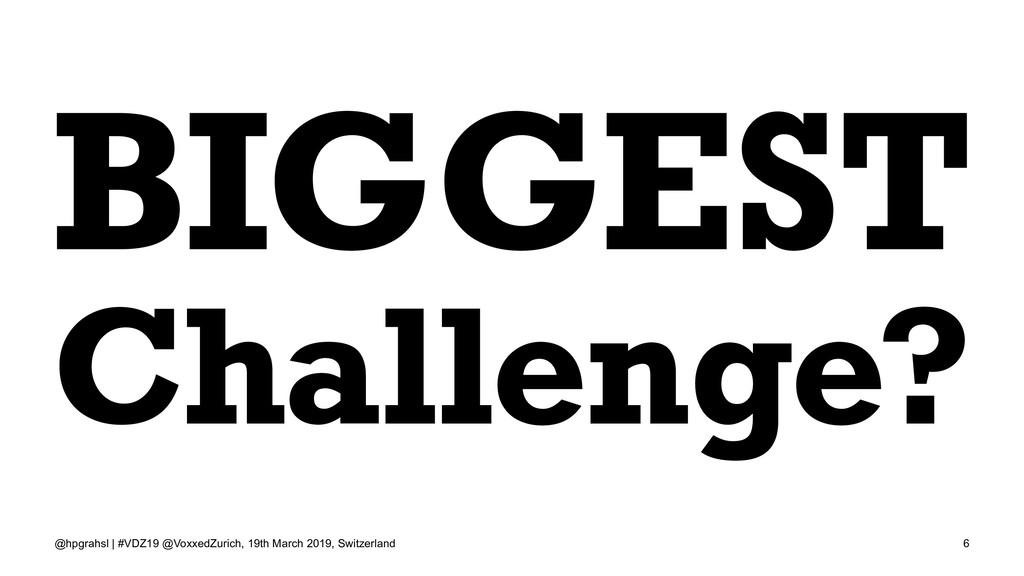 BIGGEST Challenge? @hpgrahsl | #VDZ19 @VoxxedZu...