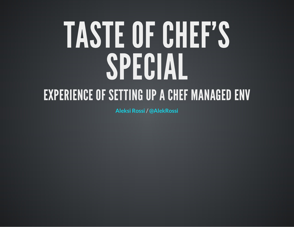 TASTE OF CHEF'S SPECIAL EXPERIENCE OF SETTING U...
