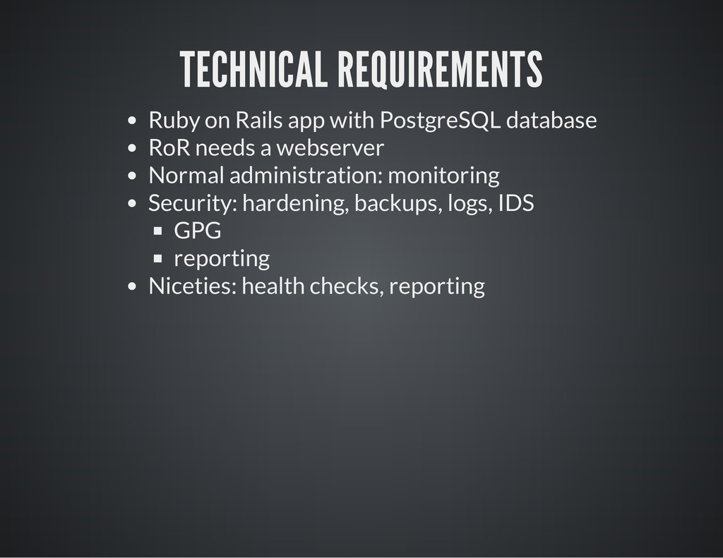 TECHNICAL REQUIREMENTS Ruby on Rails app with P...