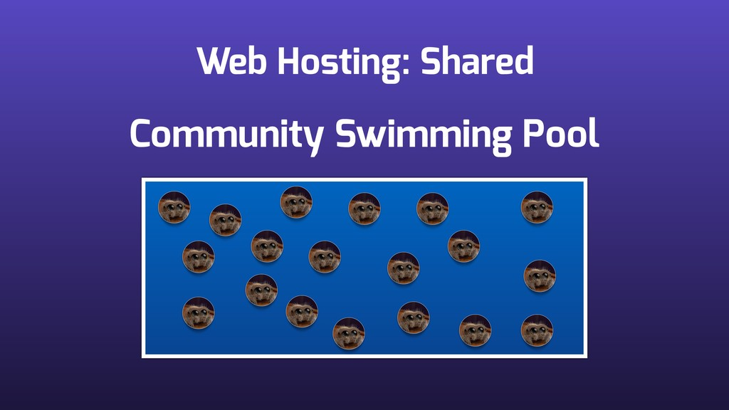 Web Hosting: Shared Community Swimming Pool