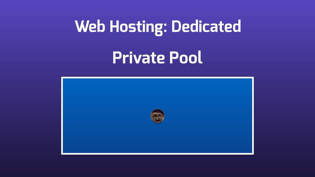 Web Hosting: Dedicated Private Pool