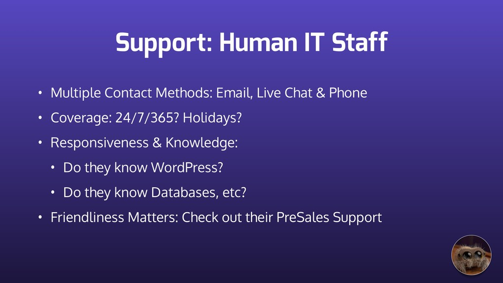 Support: Human IT Staff • Multiple Contact Meth...