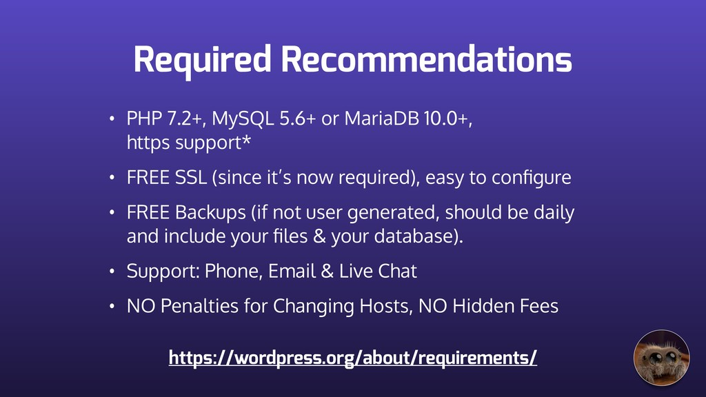 Required Recommendations • PHP 7.2+, MySQL 5.6+...