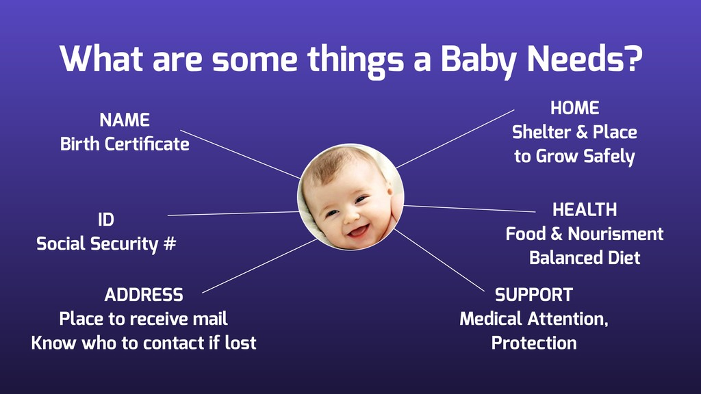 What are some things a Baby Needs? NAME