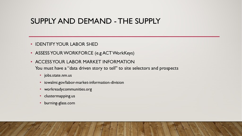 SUPPLY AND DEMAND - THE SUPPLY • IDENTIFY YOUR ...