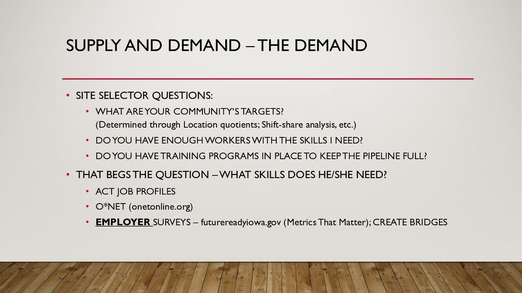 SUPPLY AND DEMAND – THE DEMAND • SITE SELECTOR ...