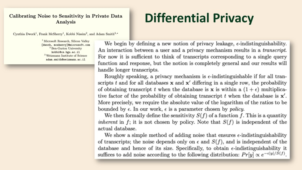 Differential Privacy TCC 2006