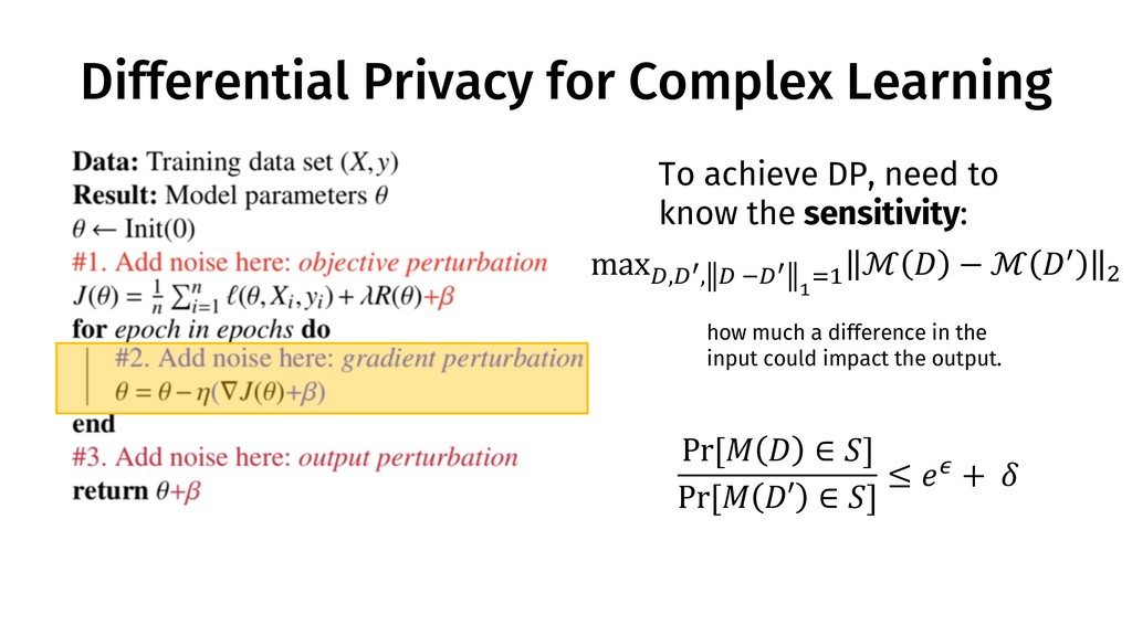 Differential Privacy for Complex Learning To ac...