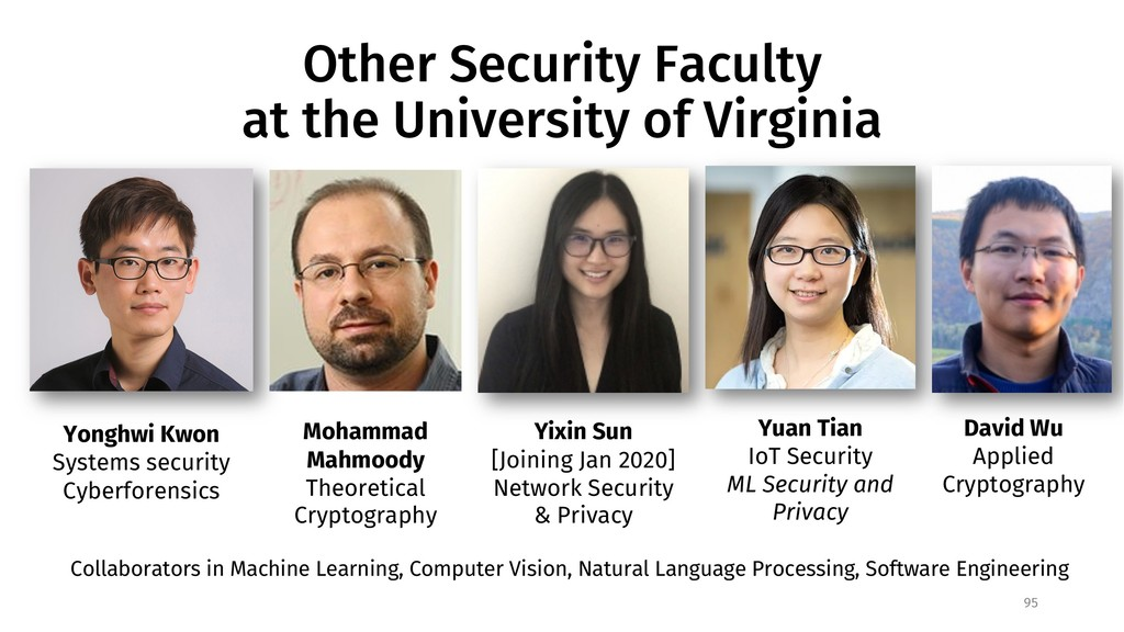 Other Security Faculty at the University of Vir...