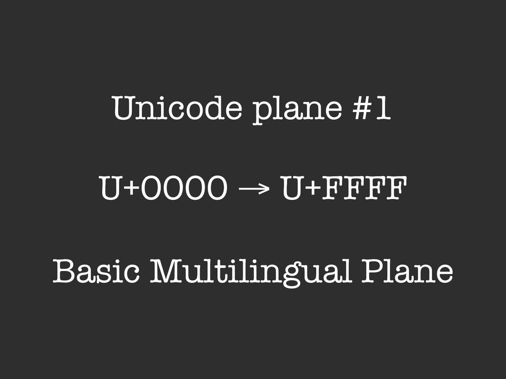 Unicode plane #1 U+0000 → U+FFFF Basic Multilin...